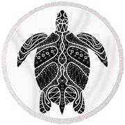 Maori Turtle Round Beach Towel