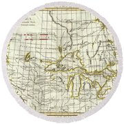 Map Of Great Lakes And Upper Mississippi Valley 1775  Round Beach Towel