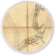 Map Of Saint John Harbour 1761  Round Beach Towel