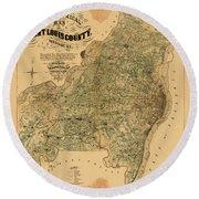 Map Of Saint Louis 1857 Round Beach Towel