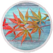 Maple Colors Round Beach Towel