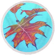 Drifting Into Fall Round Beach Towel