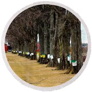 Maple Syrup Traditional Tapping Round Beach Towel