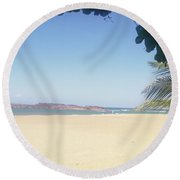 Mar A Lo Lejos Round Beach Towel