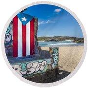 Mar Chiquita  Round Beach Towel