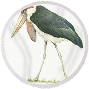 Marabou Round Beach Towel by Juan Bosco