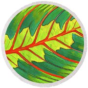 Maranta Red 2 Round Beach Towel