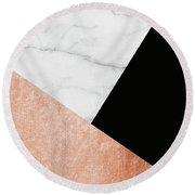 Marble Passion Round Beach Towel
