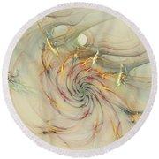 Marble Spiral Colors Round Beach Towel by Deborah Benoit