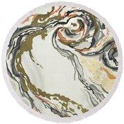 Marbled Pattern Round Beach Towel