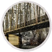 Marblemount Wa Bridge Round Beach Towel