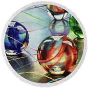 Marbles 4 Round Beach Towel