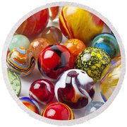 Marbles Close Up Round Beach Towel