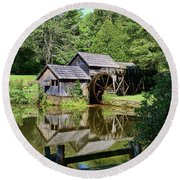 Round Beach Towel featuring the photograph Marby Mill 2 by Paul Ward