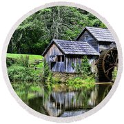 Round Beach Towel featuring the photograph Marby Mill 3 by Paul Ward