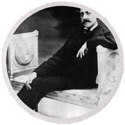 Marcel Proust, French Author Round Beach Towel