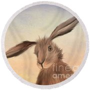 March Hare Round Beach Towel