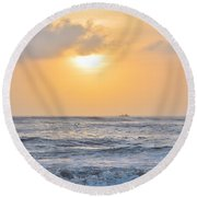 March On The Obx Round Beach Towel