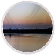 March Pre-sunrise Round Beach Towel