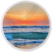 March Sunrise 3/6/17 Round Beach Towel