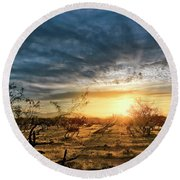 March Sunrise Round Beach Towel