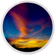 Sunset March 31, 2018 Round Beach Towel