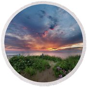Marconi Station Sunrise Square Round Beach Towel by Bill Wakeley