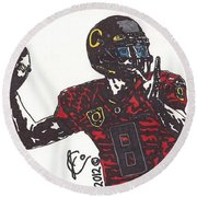 Marcus Mariota 1 Round Beach Towel by Jeremiah Colley