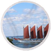 Round Beach Towel featuring the photograph Margaret Todd by Living Color Photography Lorraine Lynch