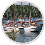 Round Beach Towel featuring the photograph Margaret Todd On A Sunny Day by Living Color Photography Lorraine Lynch