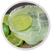 Round Beach Towel featuring the photograph Margarita Close Up by Teri Virbickis