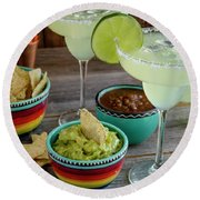 Margarita Party Round Beach Towel by Teri Virbickis