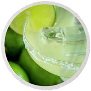 Round Beach Towel featuring the photograph Margaritas Anyone by Teri Virbickis