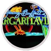 Margaritaville Neon Round Beach Towel