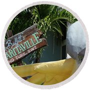 Margaritaville Sign Turks And Caicos Round Beach Towel