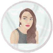Mariand Castrejon - Yuya Round Beach Towel