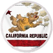 Marijuana Referendum In California Round Beach Towel
