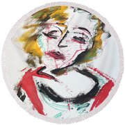 Marilyn Abstract Round Beach Towel