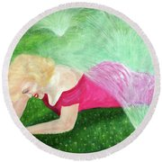 Marilyn Misted Round Beach Towel