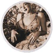 Marilyn Monroe 126 A 'sepia' Round Beach Towel