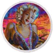 Marilyn Monroe 126 G Round Beach Towel