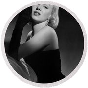 Marilyn Monroe Round Beach Towel by American School
