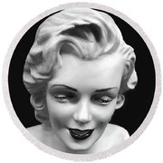 Marilyn Monroe Round Beach Towel by JoAnn Lense