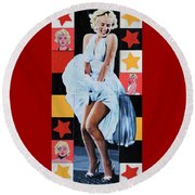 Marilyn Monroe The Star Round Beach Towel