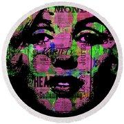 Marilyn Polk Dot Bubble Wrap Pop Art Painting Abstract Robert R Round Beach Towel