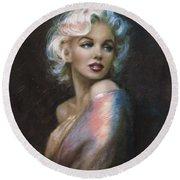 Marilyn Romantic Ww 4 Blue Round Beach Towel
