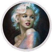 Marilyn Romantic Ww 6 A Round Beach Towel