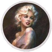 Marilyn Ww Classics Round Beach Towel