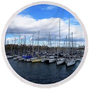 Marina 1 Round Beach Towel