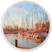 Marina Round Beach Towel